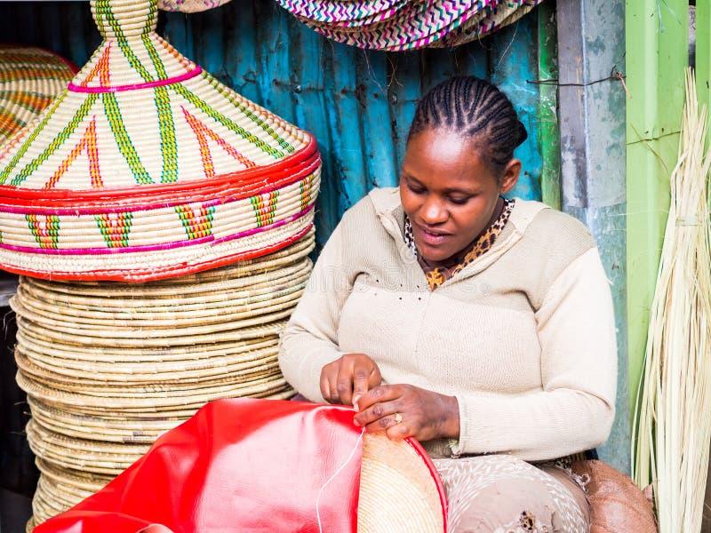Fatura de cestas de Habesha fotografia de stock royalty free