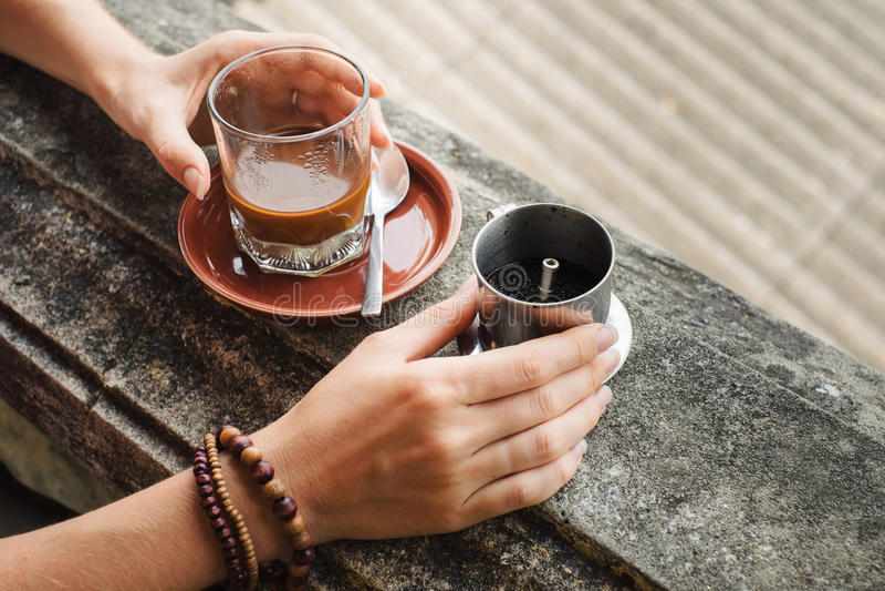 Fatura do café vietnamiano fotografia de stock royalty free