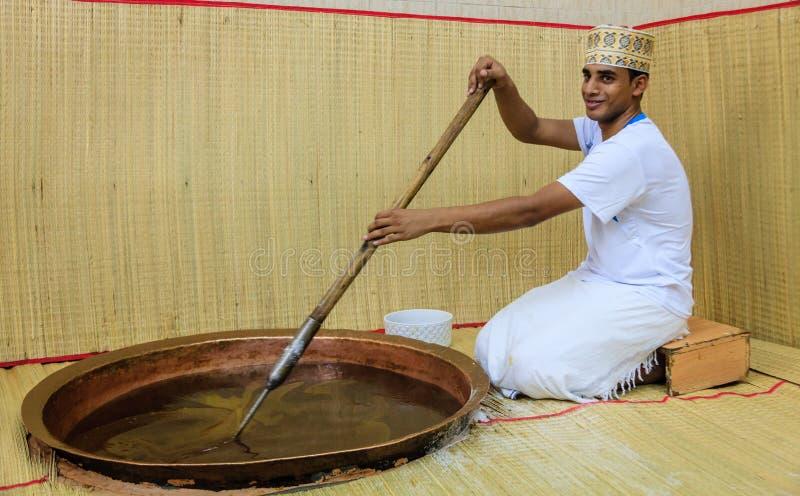 Fatura do halwa omanense imagem de stock royalty free