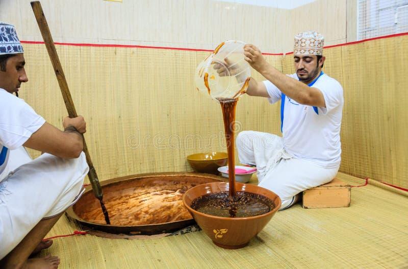 Fatura do halwa omanense fotos de stock royalty free