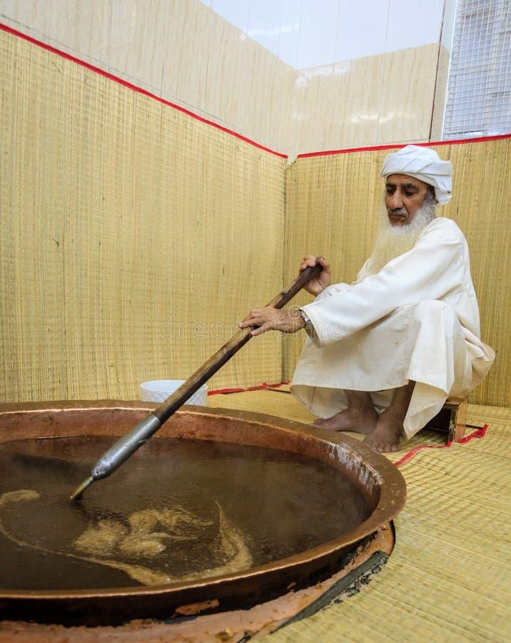 Fatura do halwa omanense imagens de stock royalty free