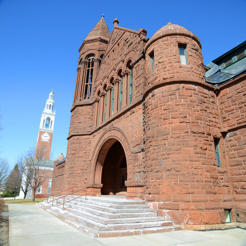 Faturamentos biblioteca memorável, universidade de Vermont, Burlington fotos de stock royalty free