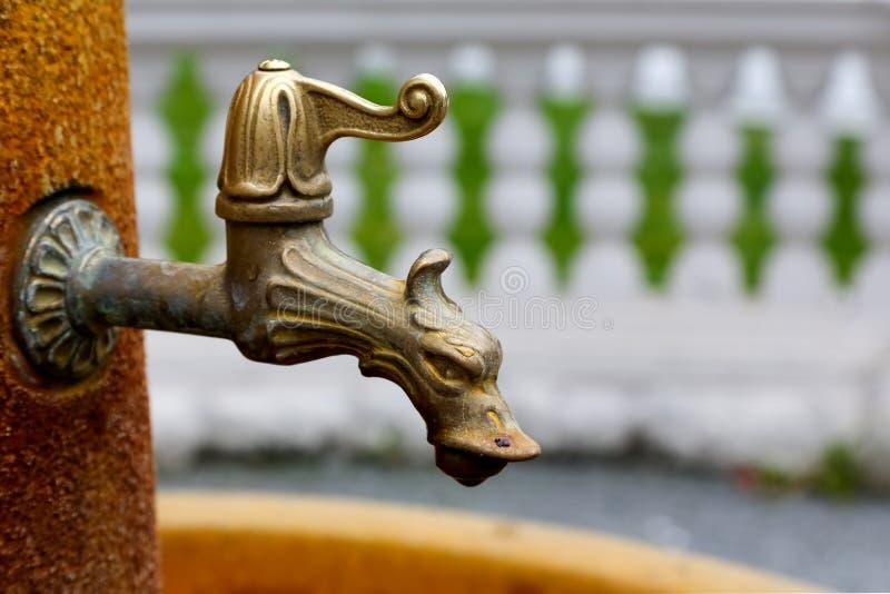 Faucet воды в Marianske Lazne стоковое изображение