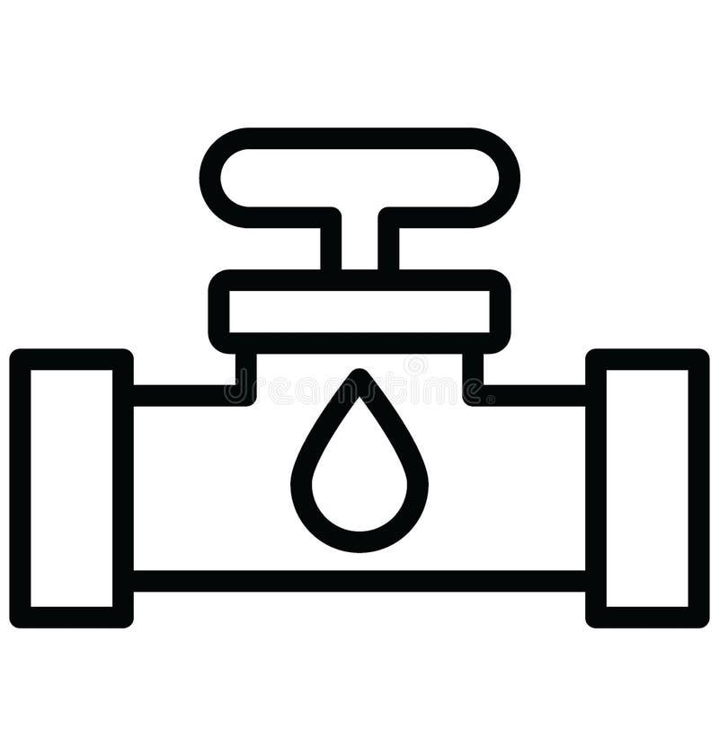 Faucet изолировал значок вектора который может легко доработать или отредактировать изолированный Faucet значок вектора который м бесплатная иллюстрация