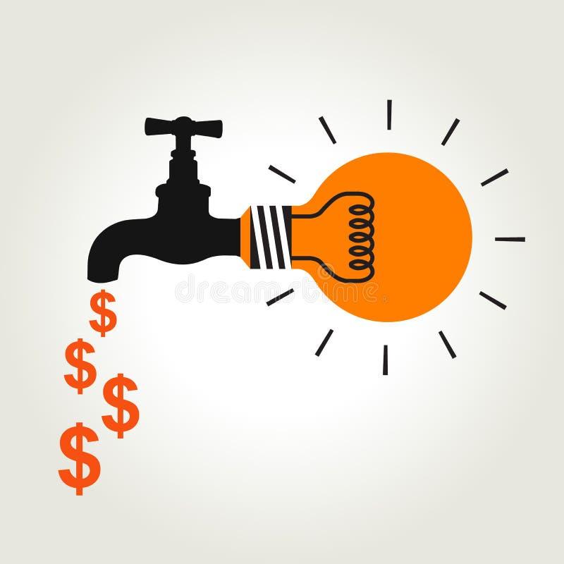 Faucet идеи денег бесплатная иллюстрация