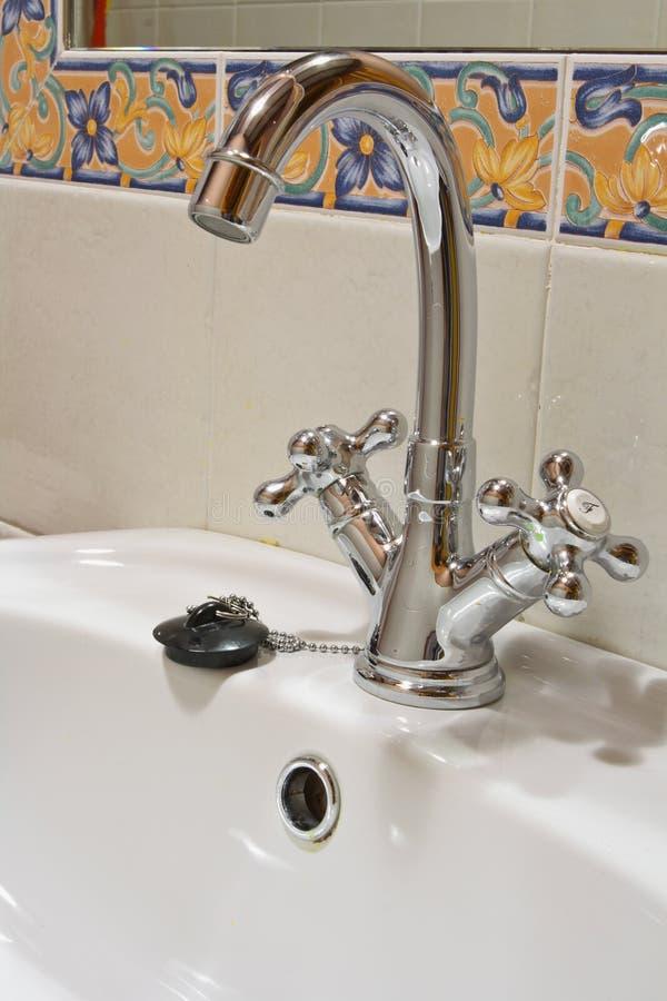 faucet крома стоковое изображение