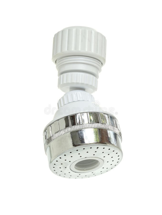 Faucet aerator. Isolated on white background stock image