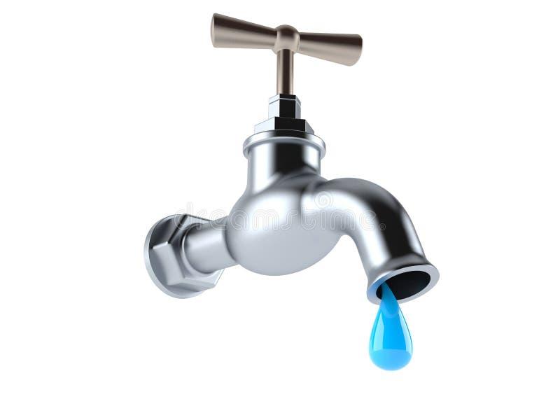 Faucet com gota da água ilustração do vetor