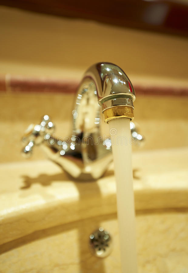Faucet de água imagem de stock royalty free