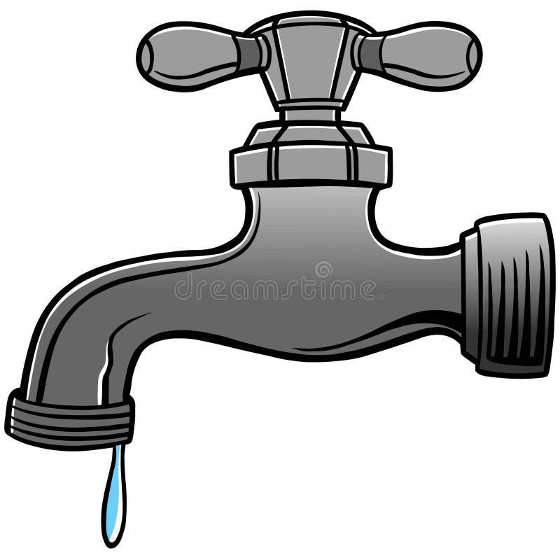 Faucet de água ilustração stock