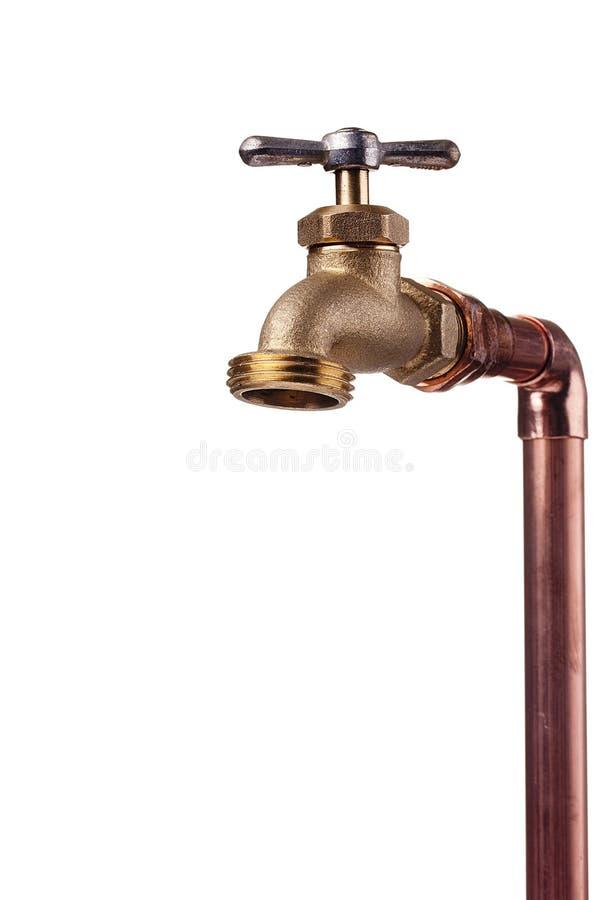 Faucet de bronze imagem de stock royalty free