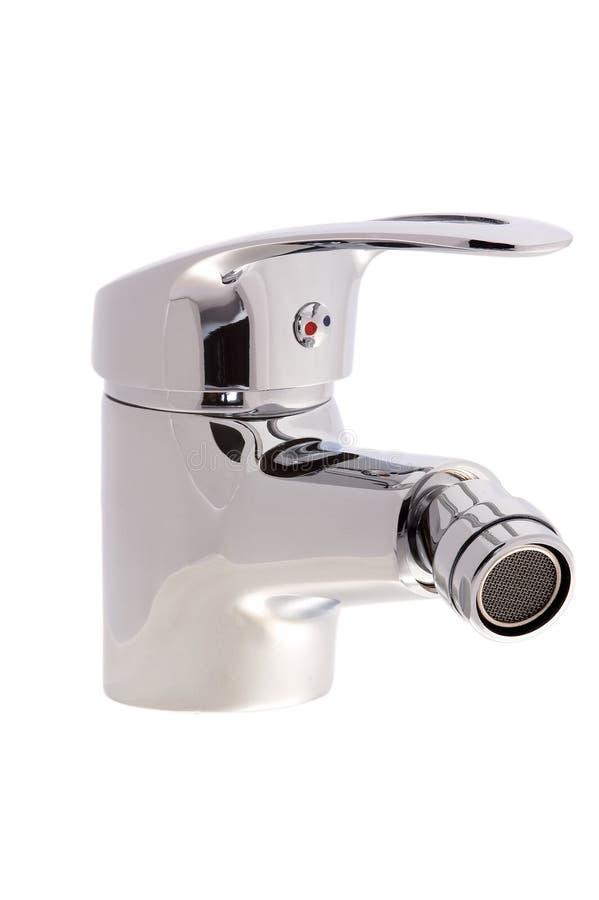 Faucet do cromo com uma cabeça de giro fotografia de stock