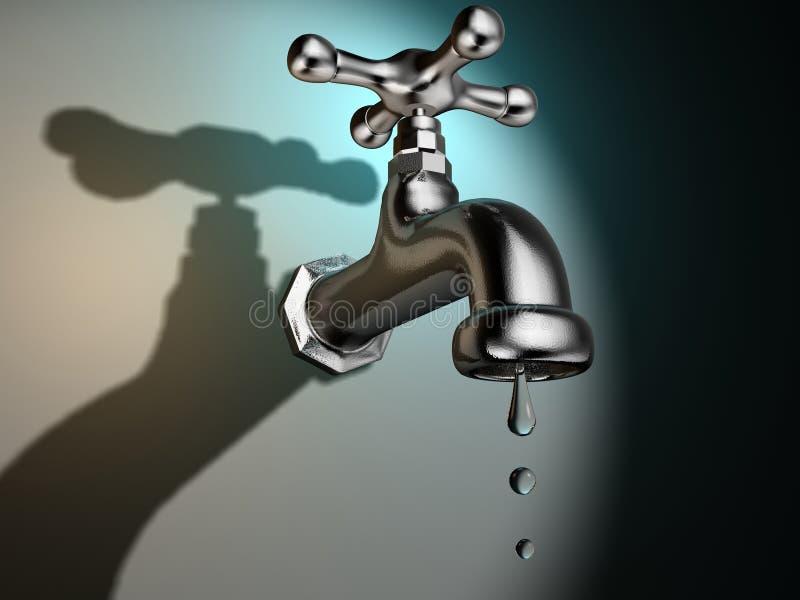 Faucet do gotejamento ilustração royalty free