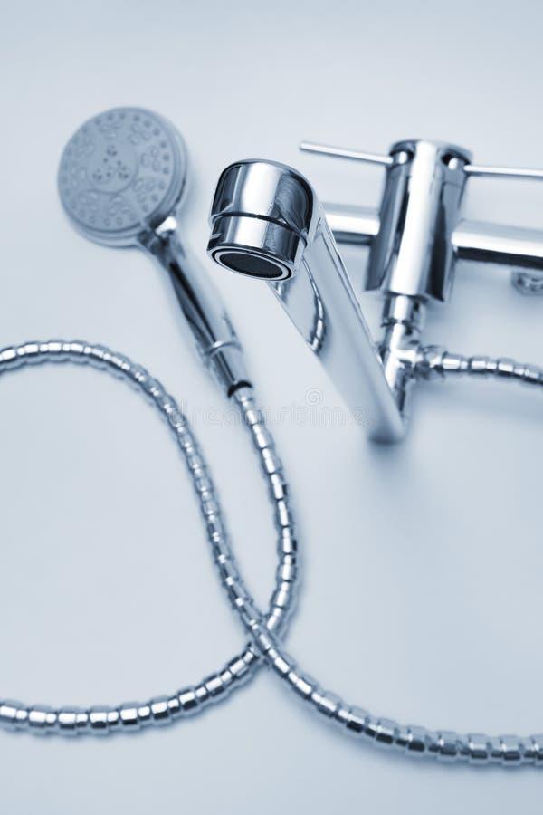 Faucet e chuveiro foto de stock royalty free