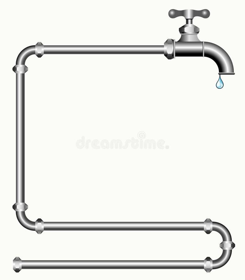 Faucet e tubulações ilustração stock
