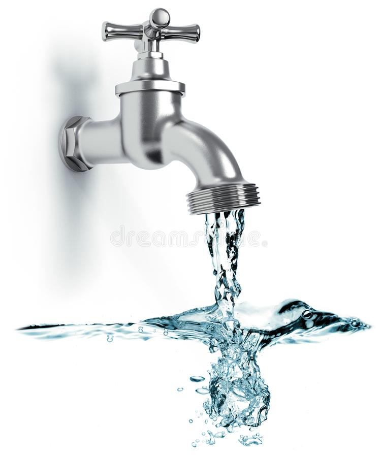 Water Tap On White Stock Illustration Illustration Of