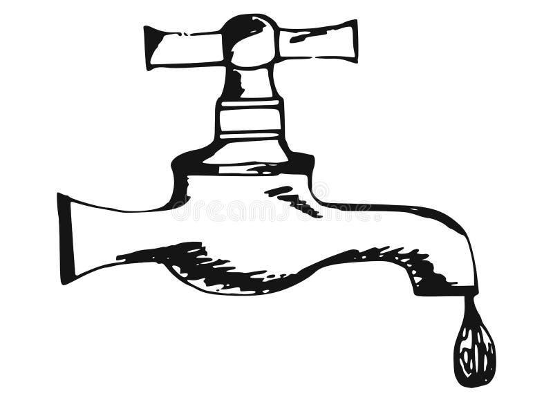 Faucet stock illustration