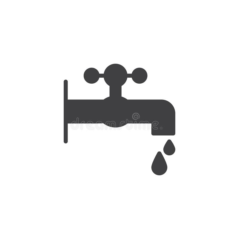 Faucet i kropli ikony wektor royalty ilustracja