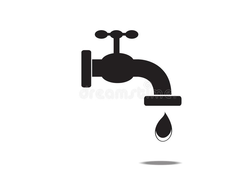 Faucet icon on white background. Is a general illustration stock illustration