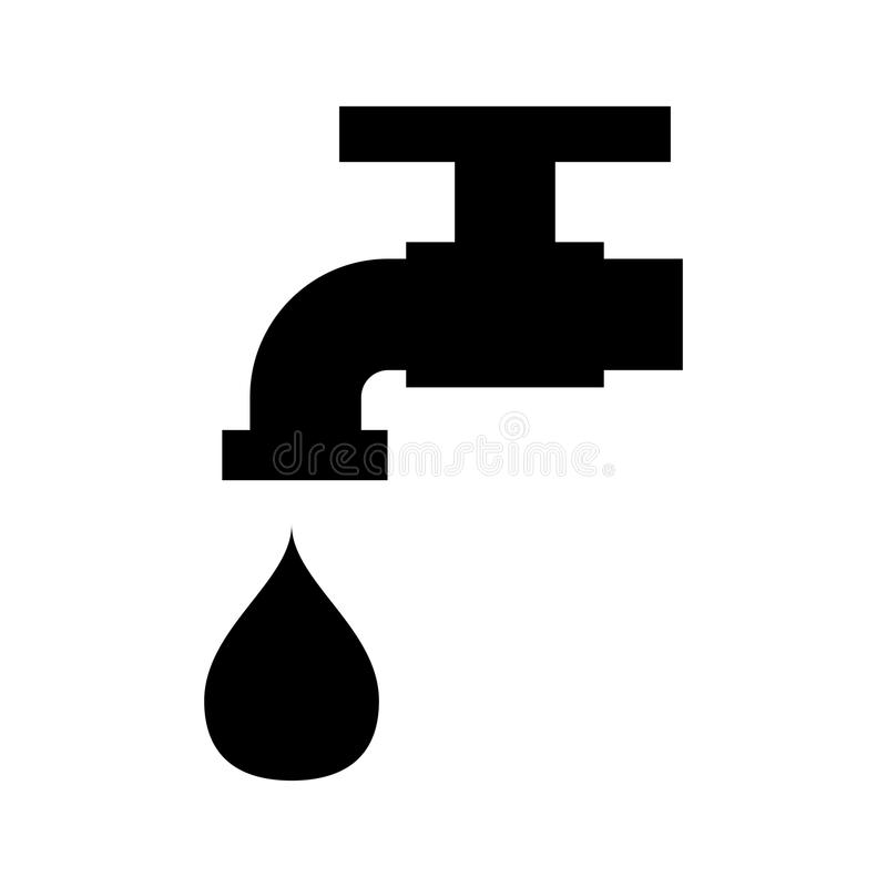 Faucet ikona royalty ilustracja