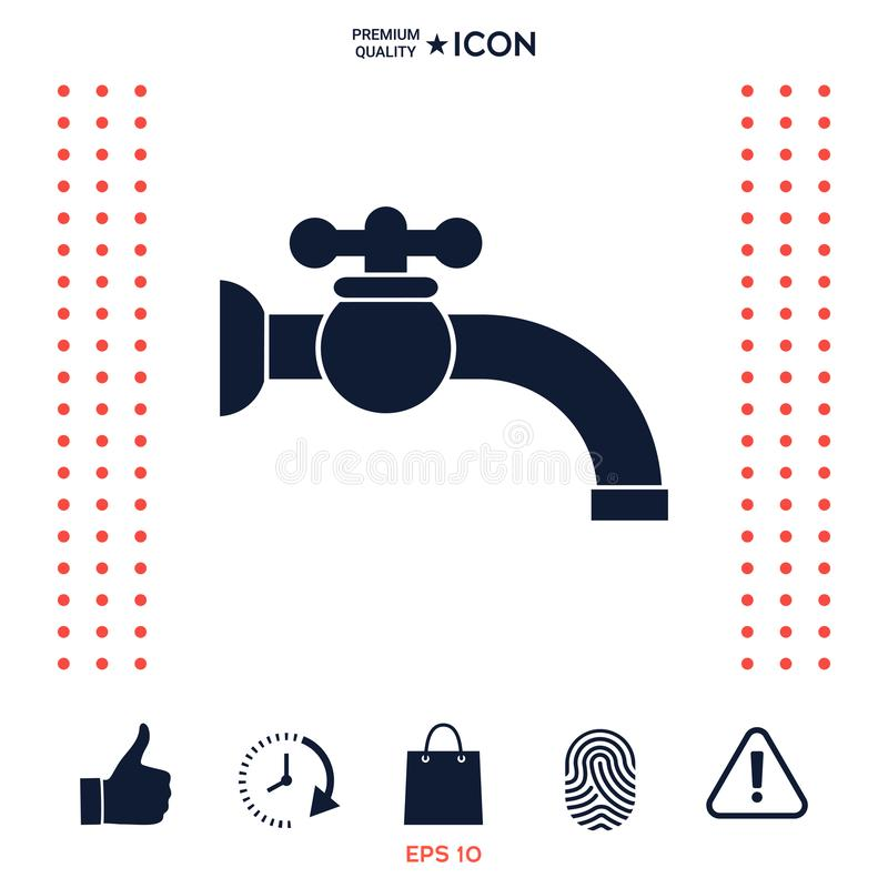 Faucet ikony symbol ilustracja wektor