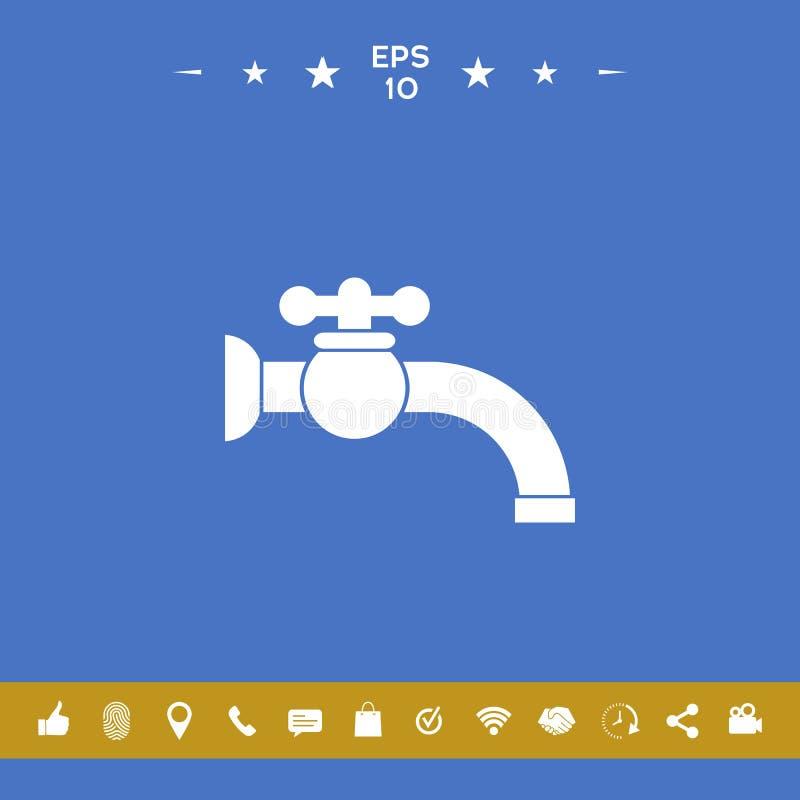 Faucet ikony symbol royalty ilustracja