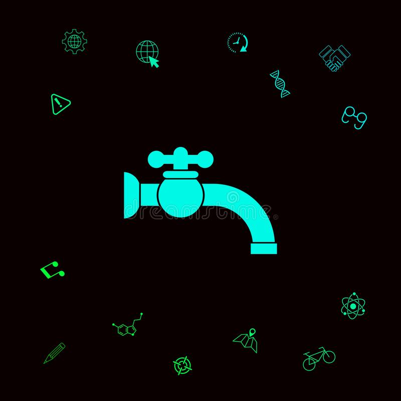 Faucet ikony symbol Graficzni elementy dla twój designt royalty ilustracja