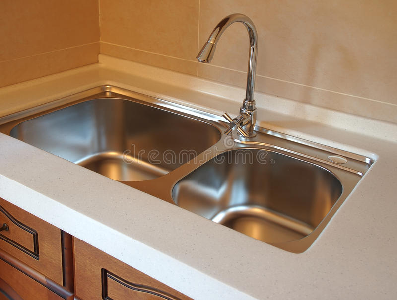 Faucet In Kitchen stock photos