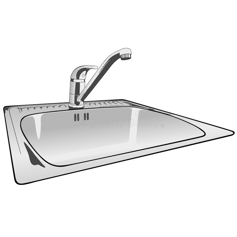 faucet lever mixer single sink απεικόνιση αποθεμάτων