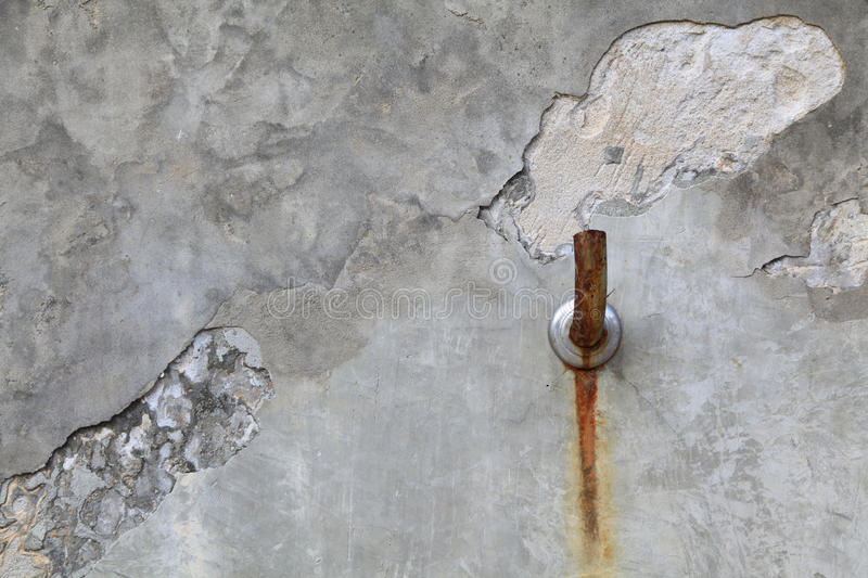Faucet old cement wall stock image
