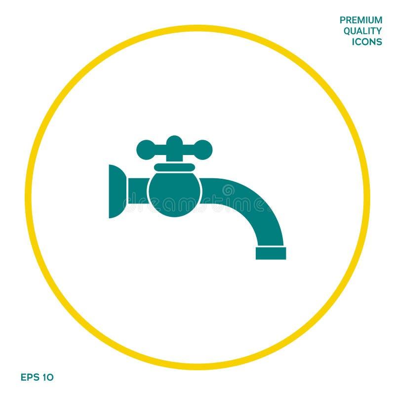 Faucet symbolu ikona Graficzni elementy dla twój projekta ilustracja wektor