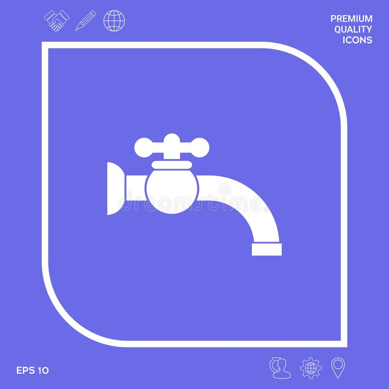Faucet symbolu ikona Graficzni elementy dla twój projekta royalty ilustracja