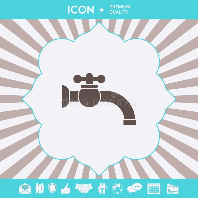 Faucet symbolu ikona Graficzni elementy dla tw?j projekta ilustracja wektor