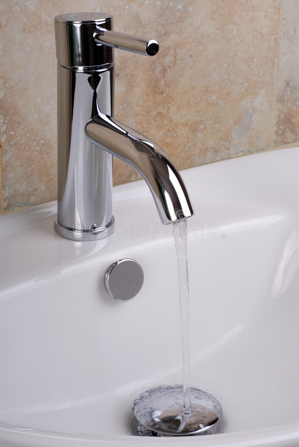 Faucet With Water stock photo