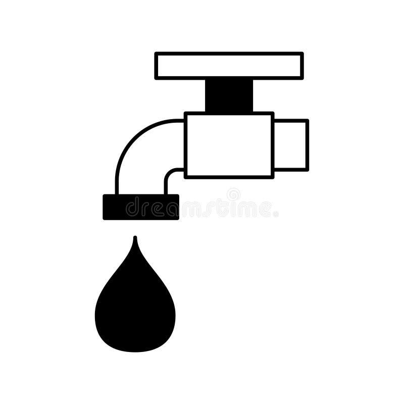 Faucet wody odosobniona ikona royalty ilustracja