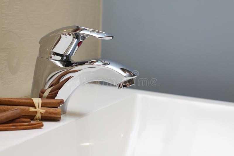faucet zlew wewnętrzny luksusowy fotografia stock