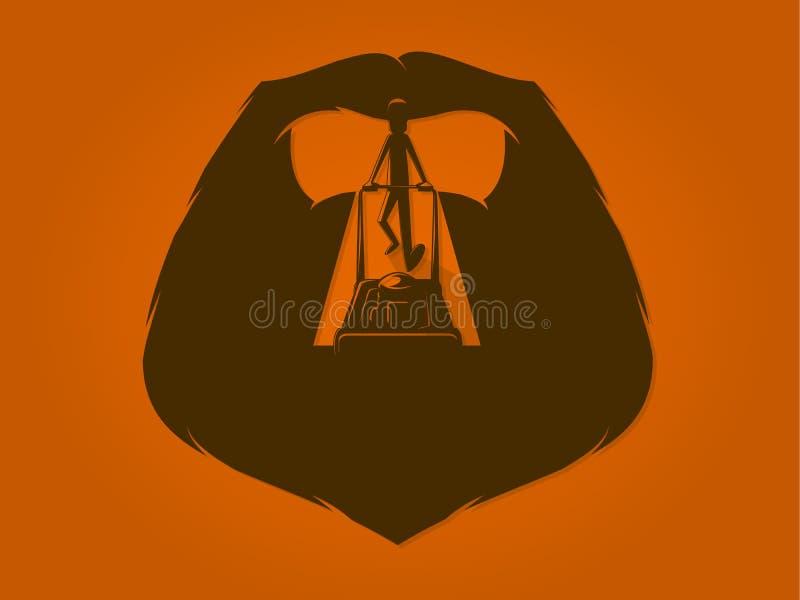 Fauchage de barbe illustration de vecteur