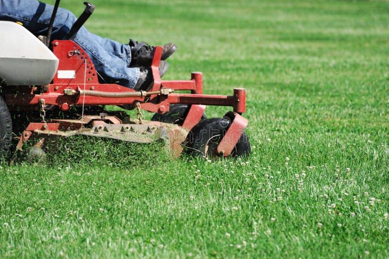 Fauchage de la pelouse photos stock