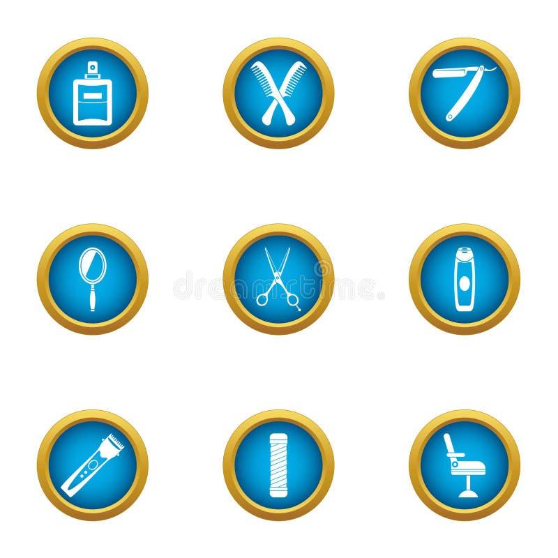 Fauchez les icônes réglées, style plat illustration libre de droits