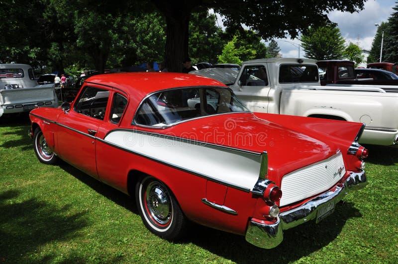 Faucon argenté de Studebaker dans le Car Show antique image libre de droits
