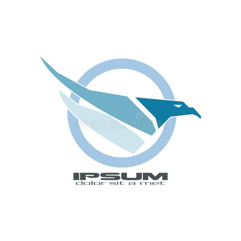 Faucon bleu abstrait illustration de vecteur