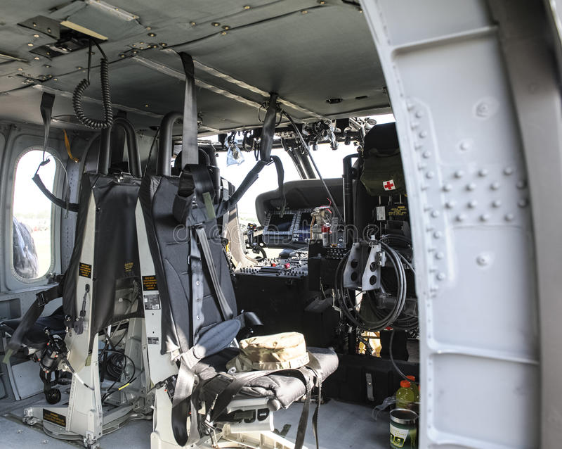Faucon de noir d'hélicoptère de transport de gamme photographie stock libre de droits