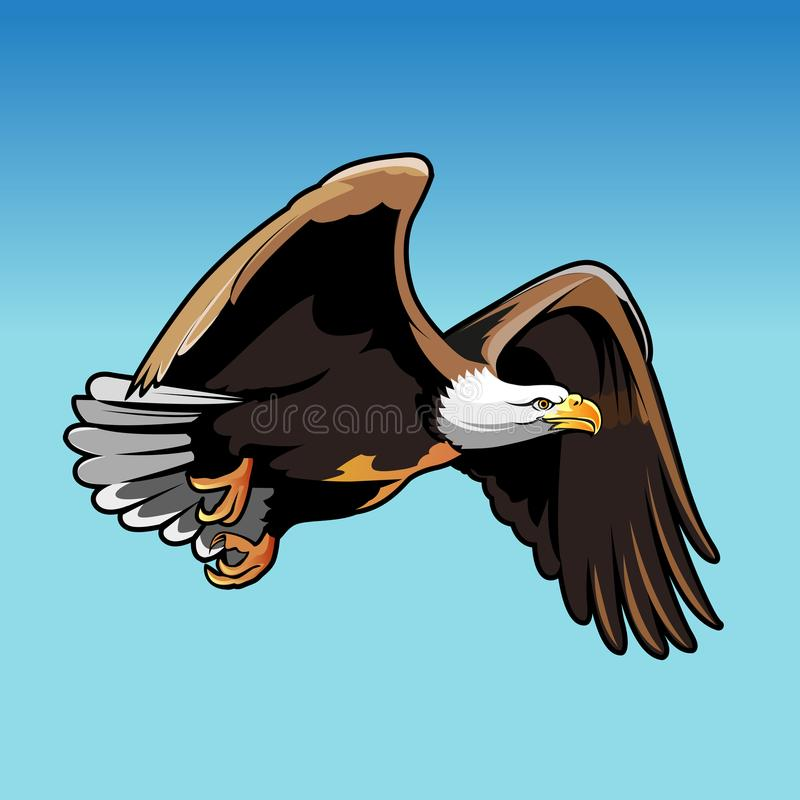 Faucon de vol illustration de vecteur