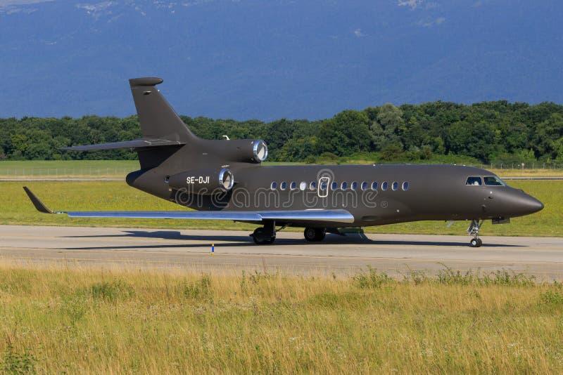 Faucon 7X Industriflyg de Dassault photographie stock
