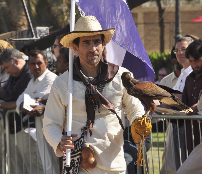 Fauconnier argentin photographie stock libre de droits