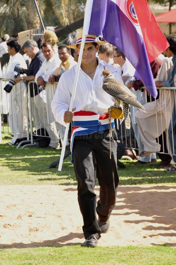 Fauconnier paraguayen photographie stock