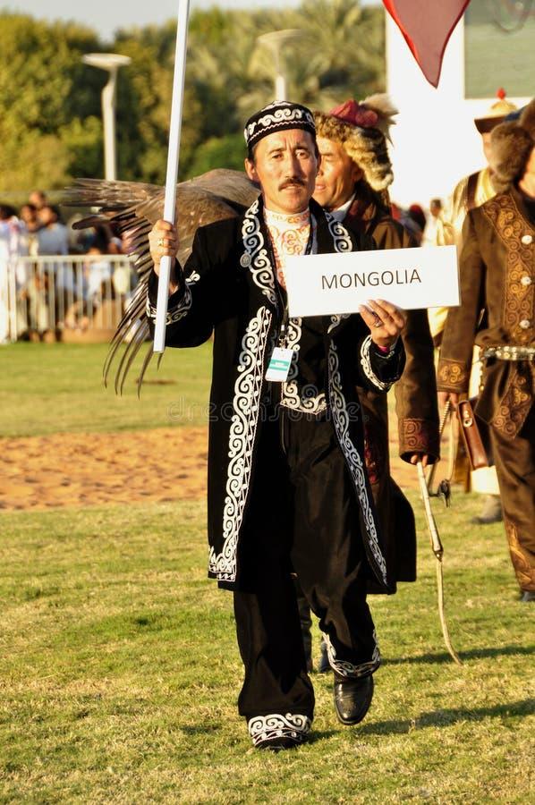 Fauconniers mongols photographie stock