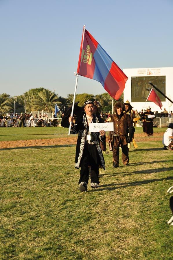 Fauconniers mongols image libre de droits