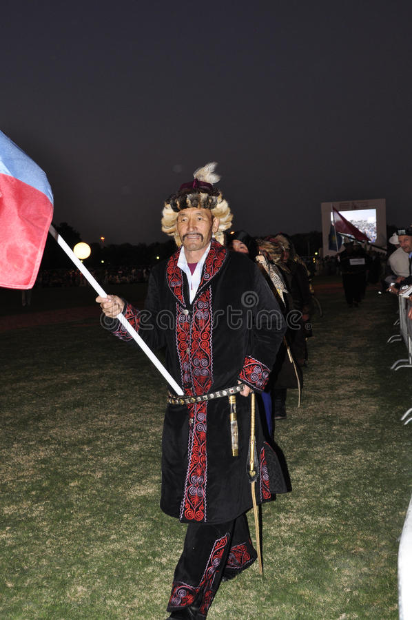 Fauconniers mongols photos stock