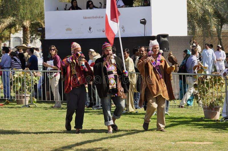 Fauconniers péruviens photographie stock libre de droits